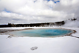 USA, Wyoming, Yellowstone National Park, Blue Pool on the Excelsior Geyser Crater Loop, Midway Geyser Basin