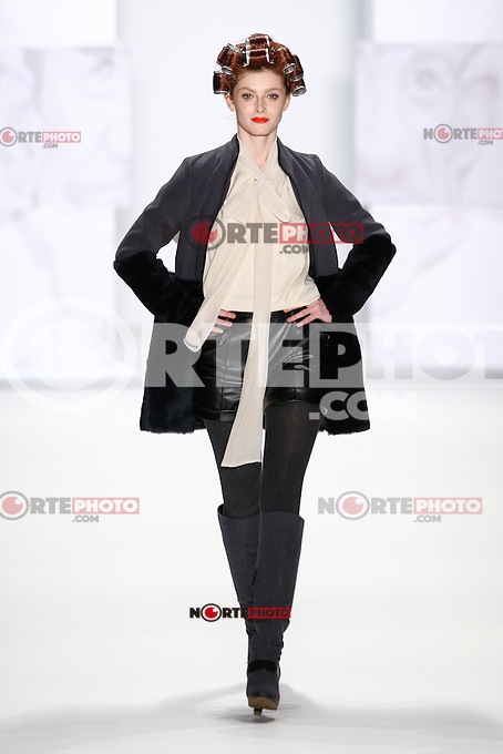 A model walks the runway at the STEPHAN PELGER FASHION SHOW during the Mercedes-Benz Fashion Week autumn/winter 2012 Berlin at Brandenburg Gate in Berlin, Germany, 21.01.2012...Credit: Poslada/face to face /MediaPunch Inc.