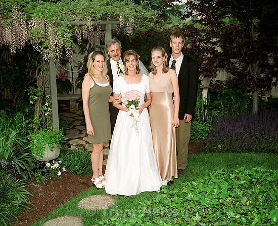 Tausha Robinson, Norman Robinson, Amberly Robinson, Camille Robinson, Todd Robinson at Amberly Robinson's wedding.<br />