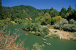Canoeing on the Russian River near Rio Nido, Sonoma County, California