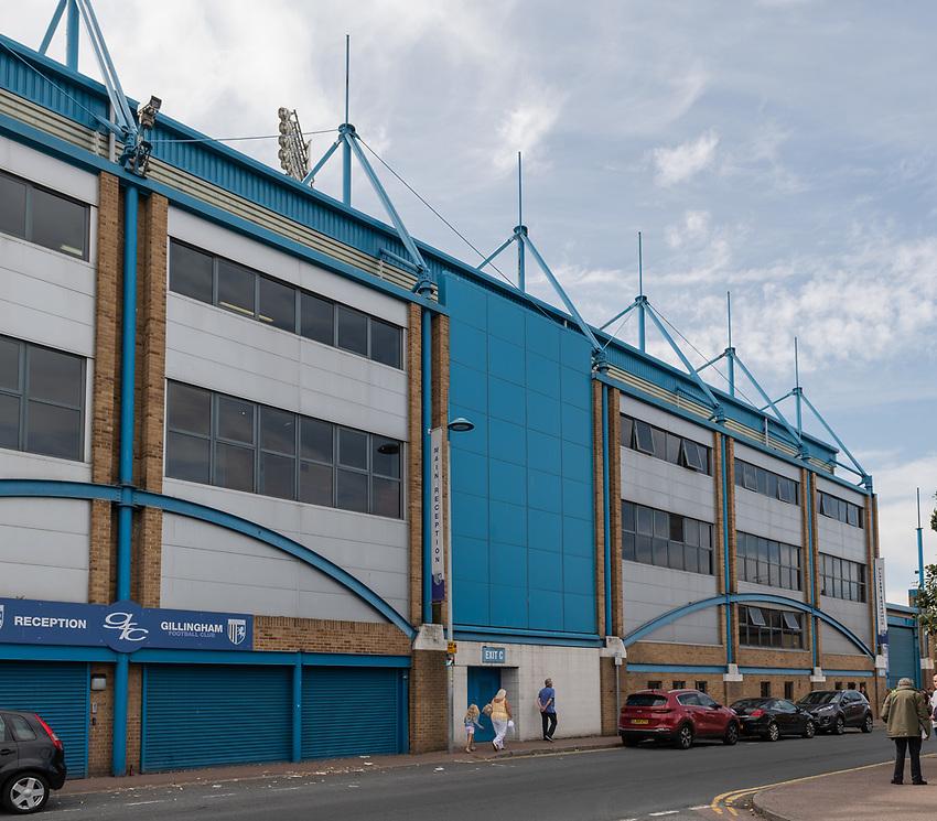 Ground view - Priestfield Stadium - Home of Gillingham FC<br /> <br /> Photographer David Horton/CameraSport<br /> <br /> The EFL Sky Bet League One - Gillingham v Bolton Wanderers - Saturday 31st August 2019 - Priestfield Stadium - Gillingham<br /> <br /> World Copyright © 2019 CameraSport. All rights reserved. 43 Linden Ave. Countesthorpe. Leicester. England. LE8 5PG - Tel: +44 (0) 116 277 4147 - admin@camerasport.com - www.camerasport.com