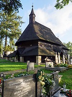 sp&auml;tgotische Holzkirche Allerheigen-Vsetkych sv&auml;tych, 15. Jh.in Tvrdosin, Zilinsky kraj, Slowakei, Europa, UNESCO-Welterbe<br /> Gothic wooden Church All Saints Vsetkych sv&auml;tych, 15. c. in Tvrdosin, Zilinsky kraj, Slovakia, Europe UNESCO world heritage