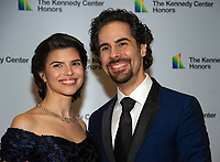 Alex Lacamoire and and his wife, Illeana Ferreras arrives for the formal Artist's Dinner honoring the recipients of the 41st Annual Kennedy Center Honors hosted by United States Deputy Secretary of State John J. Sullivan at the US Department of State in Washington, D.C. on Saturday, December 1, 2018.   <br /> CAP/MPI/RS<br /> &copy;RS/MPI/Capital Pictures