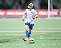 Seattle, Washington - Saturday May 14, 2016:  Boston Breakers goalkeeper Abby Smith (14) during warmups at Memorial Stadium on Saturday May 14, 2016 in Seattle, Washington. The match ended in a 1-1 draw
