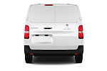 Straight rear view of 2016 Peugeot Expert Premium 4 Door Cargo Van Rear View  stock images