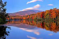 Autumn reflections at Price Lake, located along the Blue Ridge Parkway near Blowing Rock, North Carolina