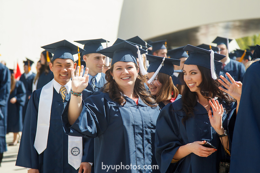 1204-40 0224<br /> <br /> 1204-40 Spring Commencement<br /> <br /> Brigham Young University Graduation<br /> <br /> Female student smiling, Waving.<br /> <br /> April 19, 2012<br /> <br /> Photo by Mark A. Philbrick/BYU<br /> <br /> © BYU PHOTO 2012<br /> All Rights Reserved<br /> photo@byu.edu  (801)422-7322