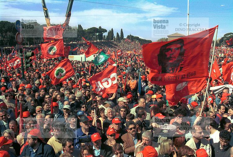 - Rome, demonstration of CGIL trade union against the terrorism..- Roma, manifestazione del sindacato CGIL contro il terrorismo