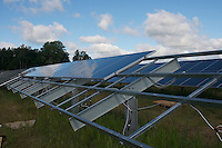 Solar Panels partially installed