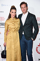 Elizabeth Chambers and Armie Hamme<br /> arriving for the Critic's Circle Film Awards 2018, Mayfair Hotel, London<br /> <br /> <br /> ©Ash Knotek  D3374  28/01/2018