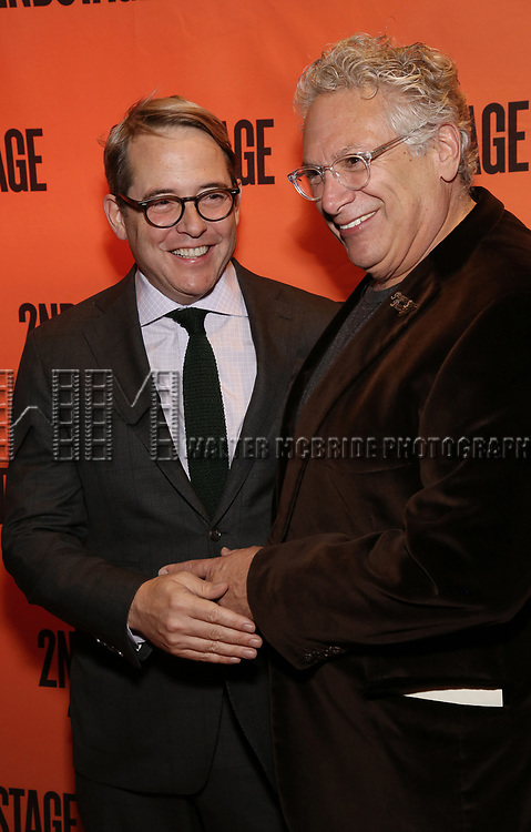 Matthew Broderick and Harvey Fierstein attends the Off-Broadway Opening Night performance of the Second Stage Production on 'Torch Song'  on October 19, 2017 at Tony Kiser Theater in New York City.