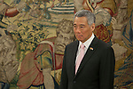 Singapur Prime Minister, Lee Hsien Loong, attends a royal audience with King Felipe VI of Spain at Zarzuela Palace in Madrid, Spain. February 06, 2015. (ALTERPHOTOS/Victor Blanco)