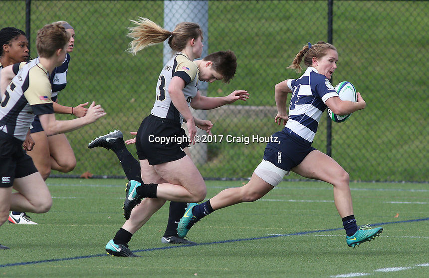 Penn State women's rugby Sophie Pyrz  against Army/West Point women's rugby on Oct. 29, 2017. Penn State won 63-31. Photo/© 2017 Craig Houtz