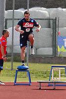 Gonzalo Higuain  durante<br /> ritiro precampionato Napoli Calcio a  Dimaro 28 Luglio 2015<br /> <br /> Preseason summer training of Italy soccer team  SSC Napoli  in Dimaro Italy July 28, 2015