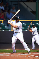 Clinton LumberKings designated hitter Kristian Brito (35) at bat during a game against the Great Lakes Loons on August 16, 2015 at Ashford University Field in Clinton, Iowa.  Great Lakes defeated Clinton 3-2.  (Mike Janes/Four Seam Images)