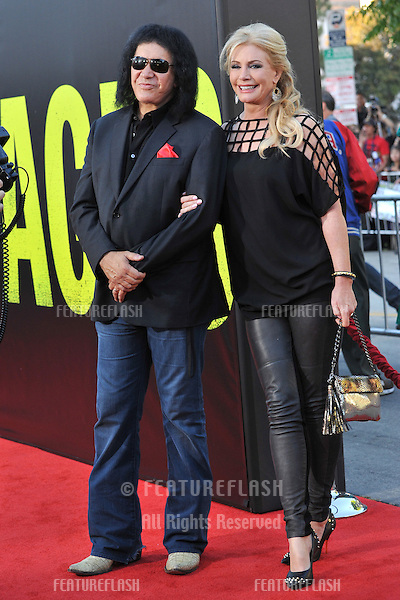 "KISS star Gene Simmons & wife Shannon Tweed at the world premiere of ""Savages"" at Mann Village Theatre, Westwood..June 26, 2012  Los Angeles, CA.Picture: Paul Smith / Featureflash"