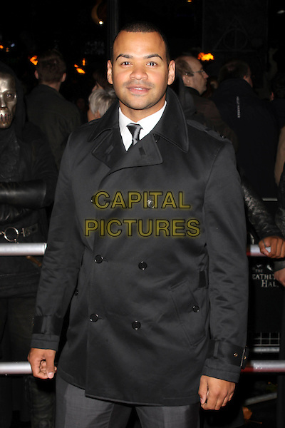 MICHAEL UNDERWOOD.'Harry Potter And The Deathly Hallows: Part 1' world film premiere, Empire cinema Leicester Square and Odeon Leicester Square, London, England 11th November 2010 .half length grey gray trench coat mac black.CAP/AH.©Adam Houghton/Capital Pictures.