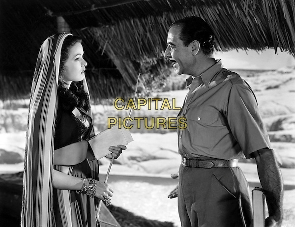 Gene Tierney, Joseph Calleia.in Sundown (1941).*Filmstill - Editorial Use Only*.CAP/NFS.Supplied by Capital Pictures.