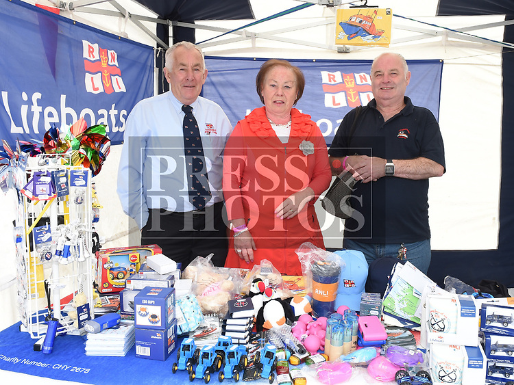 Noel Phillips, Loretta Mullen and John Carolan from Clogherhead Lifeboat at the Drogheda Maratime Festival. Photo:Colin Bell/pressphotos.ie