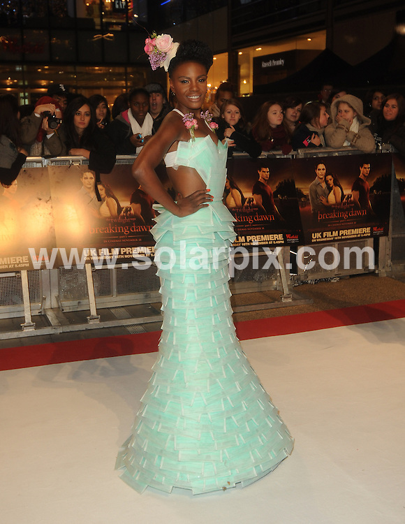 **ALL ROUND PICTURES FROM SOLARPIX.COM**                                             **WORLDWIDE SYNDICATION RIGHTS**                                                                                  UK Premiere of 'The Twilight Saga: Breaking Dawn Part 1' at Westfield Stratford City on November 16, 2011 in London                                                                           .This pic: Shingai Shoniwa                                                           JOB REF:    14195    LNJ       DATE:  17.11.11                                                          **MUST CREDIT SOLARPIX.COM OR DOUBLE FEE WILL BE CHARGED**                                                                      **MUST AGREE FEE BEFORE ONLINE USAGE**                               **CALL US ON: +34 952 811 768 or LOW RATE FROM UK 0844 617 7637**