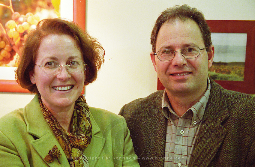Philippe Delesvaux and his wife. Domaine Delesvaux, Anjou, Loire, France