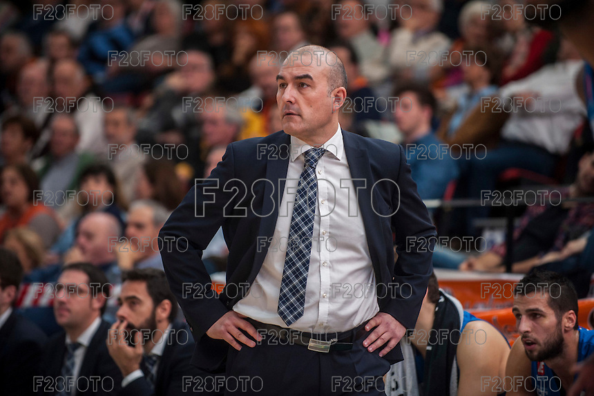 VALENCIA, SPAIN - NOVEMBER 22: Jaume Ponsarnau during Endesa League match between Valencia Basket Club and Retabet.es GBC at Fonteta Stadium on November 22, 2015 in Valencia, Spain