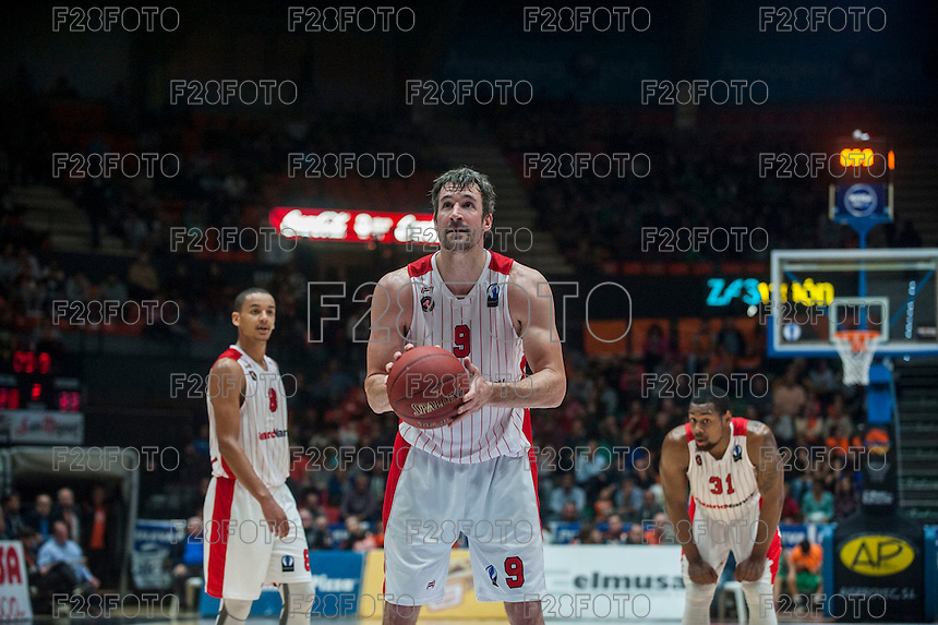 VALENCIA, SPAIN - NOVEMBER 18: Andrew Panko during EUROCUP match between Valencia Basket Club and CAI SLUC Nancy at Fonteta Stadium on November 18, 2015 in Valencia, Spain