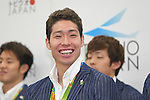 Kosuke Hagino (JPN), <br /> AUGUST 17, 2016 - Swimming : Japanese Swimming medalist attend a media conference at Ajinomoto National Training Center, Tokyo, Japan. Japanese Swimming players won 2 gold medals, 2 silver medals and 3 bronze medals in the Rio 2016 Olympic Games. (Photo by AFLO SPORT)