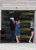 Caversham, Nr Reading, Berkshire.<br /> <br /> Phelan HILL, carrying Olympic Rowing Team Announcement morning training before the Press conference at the RRM. Henley.<br /> <br /> Thursday  09.06.2016<br /> <br /> [Mandatory Credit: Peter SPURRIER/Intersport Images]