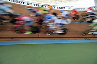 CALI – COLOMBIA – 17-02-2017: Prueba Omnium I, damas,  en el Velodromo Alcides Nieto Patiño, sede de la III Valida de la Copa Mundo UCI de Pista de Cali 2017. / Omnium I Women Race at the Alcides Nieto Patiño Velodrome, home of the III Valid of the World Cup UCI de Cali Track 2017. Photo: VizzorImage / Luis Ramirez / Staff.
