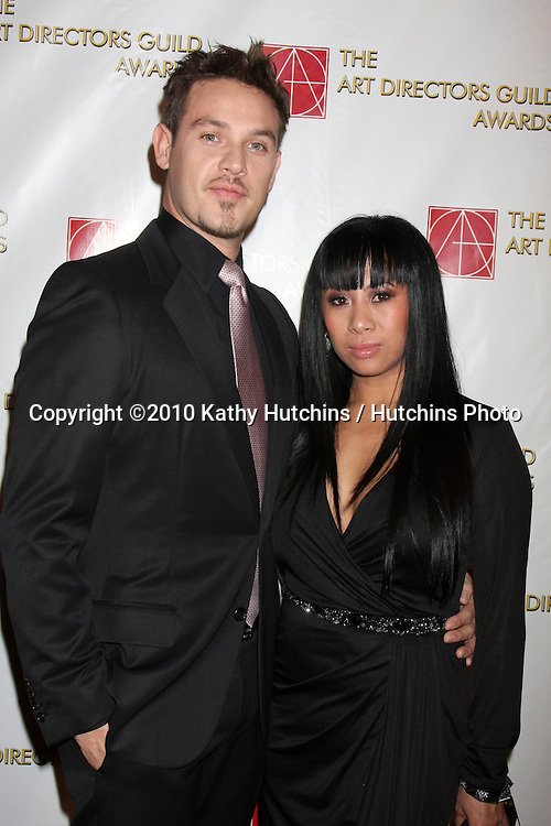 Kevin Alejandro & Wife.arriving at the 14th Snnual Art Directors Guild Awards.Beverly Hilton Hotel.Los Angeles, CA.February 13, 2010.©2010 Kathy Hutchins / Hutchins Photo....