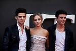 Alvaro Rico, Ester Exposito and Itzan Escamilla attends to ELITE premiere at Callao City Lights in Madrid, Spain. August 29, 2019. (ALTERPHOTOS/A. Perez Meca)