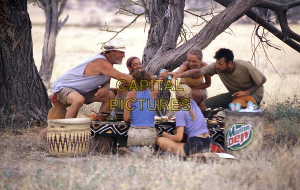 TOM BUCHANAN, BRANDON QUITON, LINDSEY RICHTER, LEX VAN DEN BERGHE, KELLY GOLDSMITH & KIM POWERS.in Survivor: Africa.Filmstill - Editorial Use Only.Ref: FB.www.capitalpictures.com.sales@capitalpictures.com.©Capital Pictures.