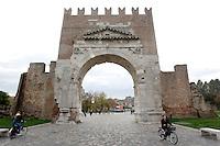 L'Arco di Augusto a Rimini.<br /> Arc of Augustus in Rimini.<br /> UPDATE IMAGES PRESS/Riccardo De Luca