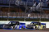 #16: Brett Moffitt, Hattori Racing Enterprises, Toyota Tundra AISIN Group #24: Justin Haley, GMS Racing, Chevrolet Silverado Fraternal Order Of Eagles
