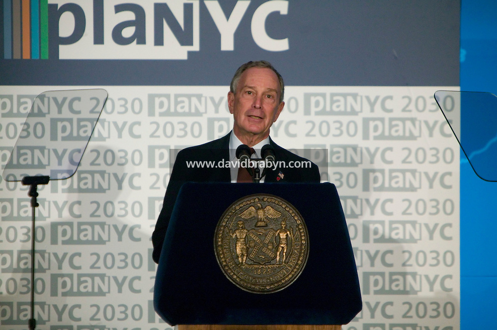 22 April 2007 - New York City, NY - New York City Mayor Michael R. Bloomberg presents PlaNYC - a new policy of 127 initiatives to make the city more green - at the American Museum of Natural History in New York, USA, 21 April 2007.