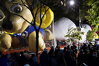 NEW YORK, NY – NOVEMBER 21: Many people visit the balloons of the annual Macy's Thanksgiving Day Parade the night before the parade on November 21, 2018 in New York City. (Photo by Pablo Monsalve /VIEWPress)