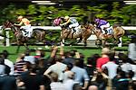 Jockey #3 Derek Leung Ka-chun riding House of Luck during the race 5 of Hong Kong Racing at Happy Valley Race Course on November 29, 2017 in Hong Kong, Hong Kong. Photo by Marcio Rodrigo Machado / Power Sport Images