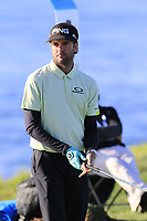 Bubba Watson (USA) on the 8th tee during Sunday's Final Round of the 2018 AT&amp;T Pebble Beach Pro-Am, held on Pebble Beach Golf Course, Monterey,  California, USA. 11th February 2018.<br /> Picture: Eoin Clarke | Golffile<br /> <br /> <br /> All photos usage must carry mandatory copyright credit (&copy; Golffile | Eoin Clarke)