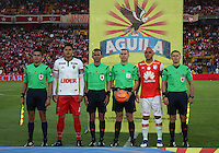BOGOTA -COLOMBIA, 4-03-2017. Wilson Lamouroux central referee match  between Independiente Santa Fe and  Patriotas FC  during match for the date 8 of the Aguila League I 2017 played at Nemesio Camacho El Campin stadium . Photo:VizzorImage / Felipe Caicedo  / Staff