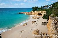 The Caribbean, Anguilla. The newly renovated Malliouhana Hotel and Spa beachfront.