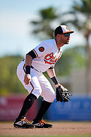 Baltimore Orioles third baseman Renato Nunez (39) during a Grapefruit League Spring Training game against the Detroit Tigers on March 3, 2019 at Ed Smith Stadium in Sarasota, Florida.  Baltimore defeated Detroit 7-5.  (Mike Janes/Four Seam Images)