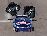 Feb 22, 2015; Chandler, AZ, USA; NHRA pro stock driver Jason Line during the Carquest Nationals at Wild Horse Pass Motorsports Park. Mandatory Credit: Mark J. Rebilas-