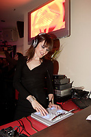 Genevieve Borne spins at <br /> Official Opening of Pinokkio Club on De Maisonneuve and Crescent in downtown Montreal.<br /> <br /> Ouverture Officielle du Club Pinokkio, 1320 de Maisonneuve Ouest, pres de la rue Crescent.<br /> <br /> photo :  Images Distribution