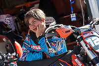 Young rider and his motorbike at Spanish Motocross Championship at Albaida circuit (Spain), 22-23 February 2014