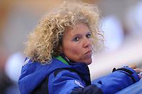 SCHAATSEN: LEEUWARDEN: 08-10-2015, Elfstedenhal, shorttrack Time Trial, trainster Wilma Boomstra, ©foto Martin de Jong