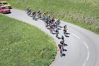 thinned down peloton up the Colombi&egrave;re<br /> <br /> 69th Crit&eacute;rium du Dauphin&eacute; 2017<br /> Stage 8: Albertville &gt; Plateau de Solaison (115km)