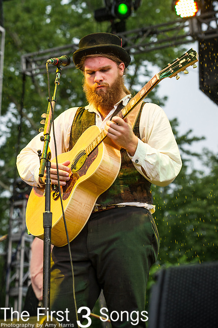 Benjamin Hardesty of The Last Bison performs during Day 3 of the 2013 Firefly Music Festival in Dover, Delaware.