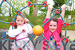 Aoife Kellihan and Megan Noonan from Tralee enjoying the 25th Anniversary Crag Caves Fun Day in Castleisland on Sunday