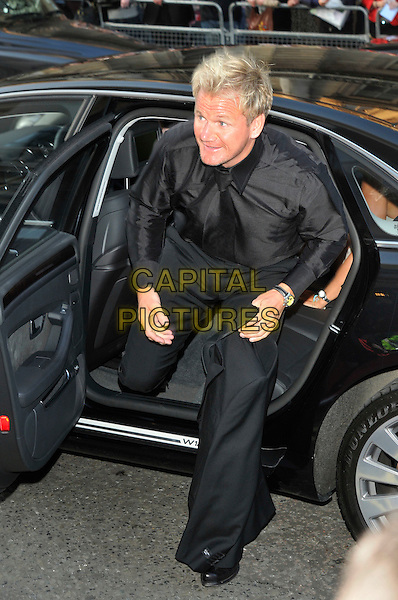 GORDON RAMSAY .Attending the GQ Men of the Year Awards at the Royal Opera House, Covent Garden, London, England,.2nd September 2008..arrivals full length black shirt trousers getting out of car tie .CAP/PL.©Phil Loftus/Capital Pictures